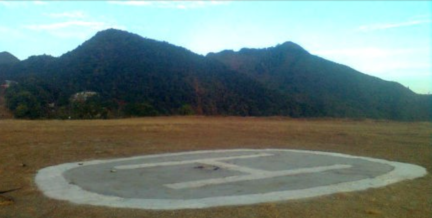 A helipad at Parbung sub-divisional headquarters in Hmar Hills. This is maintained by the Indian Army. Photo contributed by Muona Infimate