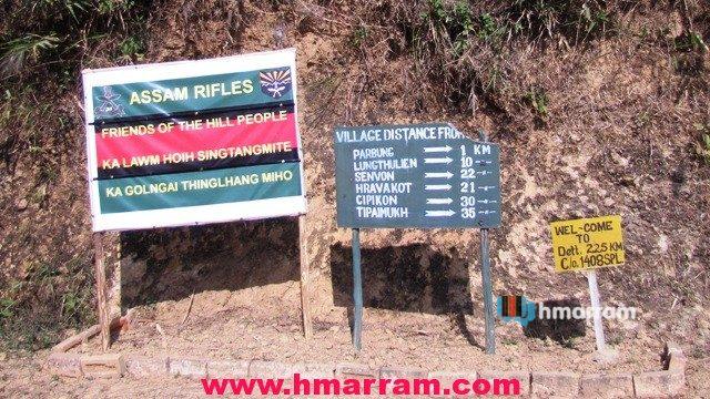 Parbung Army Check Post Notice Board Hmar Hills
