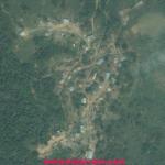Ariel view of Tuolbung Village in Hmar Hills, Manipur.